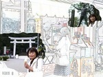 ●門前でアイスクリーム、伝説の相撲取・雷電像もある●.jpg