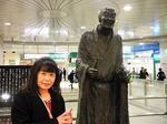 ●JR長岡駅エキナカの良寛さん像、会うのが楽しみ●.jpg