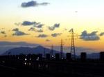 ●研修後、弥彦山に陽が落ちて●.jpg