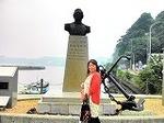 ●ペリー提督胸像と対面(ペリー艦隊来航記念碑)●.jpg